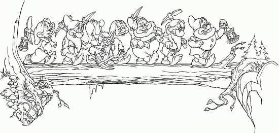 نقاشی هفت کوتوله ها