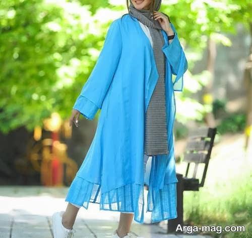 مدل مانتو بلند تابستانی دخترانه