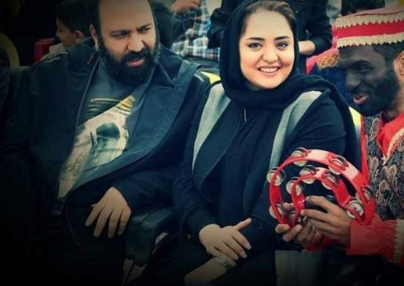 موتورسواری نرگس محمدی و همسرش علی اوجی