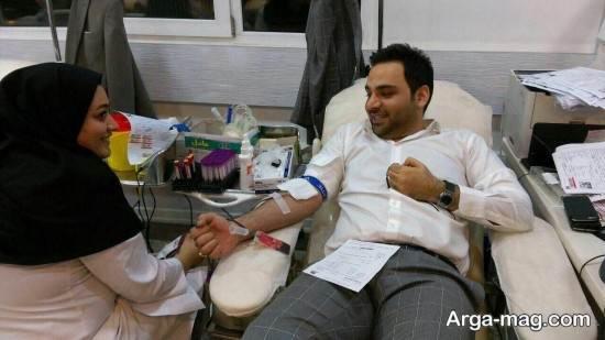 اهدای خون احسان علیخانی