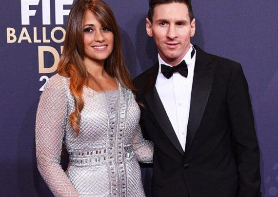 عکس مسی و همسرش