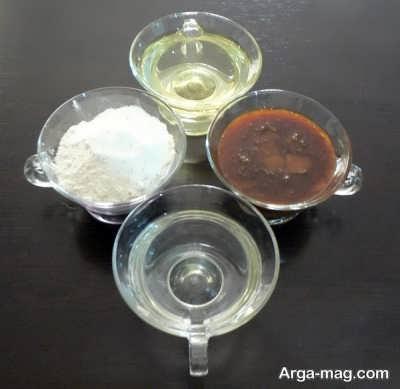 مواد لازم برای تهیه حلوا با شیره انگور