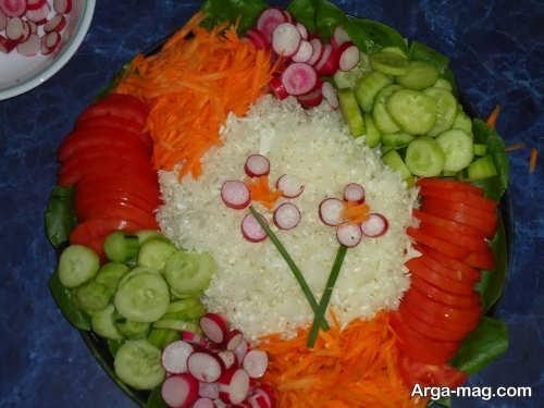 تزیین سالاد سبزیجات