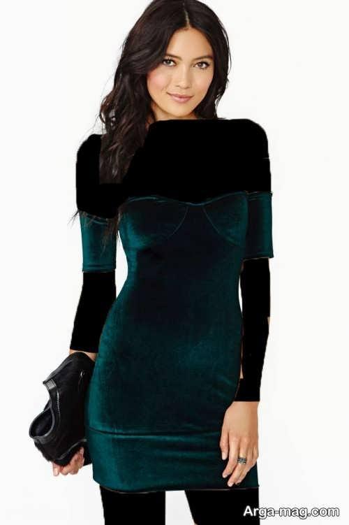 مدل لباس مجلسی شیک مخمل