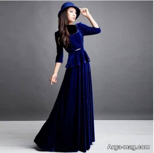 مدل لباس دخترانه بلند مخمل