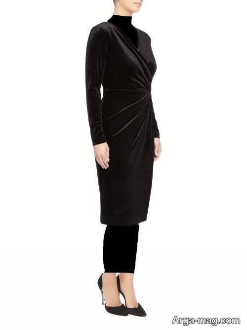 مدل لباس مجلسی ساده مخمل