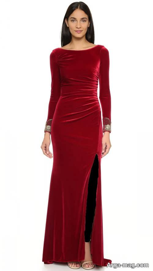 مدل لباس راسته بلند چاکدار
