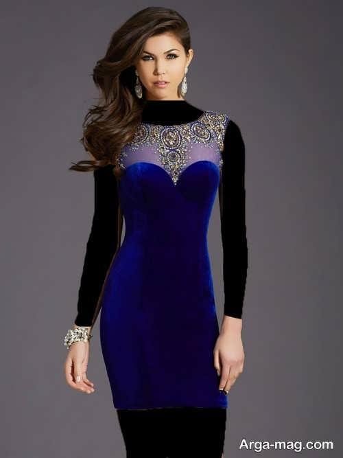مدل لباس کار شده مخمل