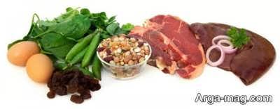 درمان کم خونی با پروتئین حیوانی در غذاها
