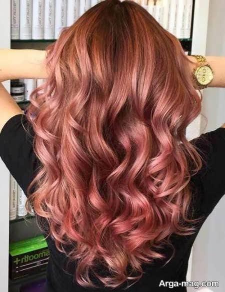 رنگ موی ترکیبی زیبا و جذاب
