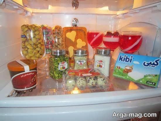 تزیین انواع خوراکی برای یخچال عروس