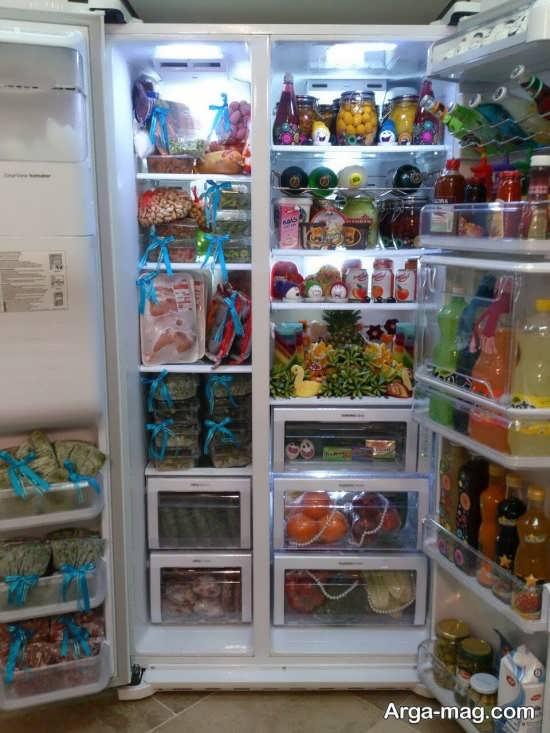 تزیین انواع خوراکی برای یخچال