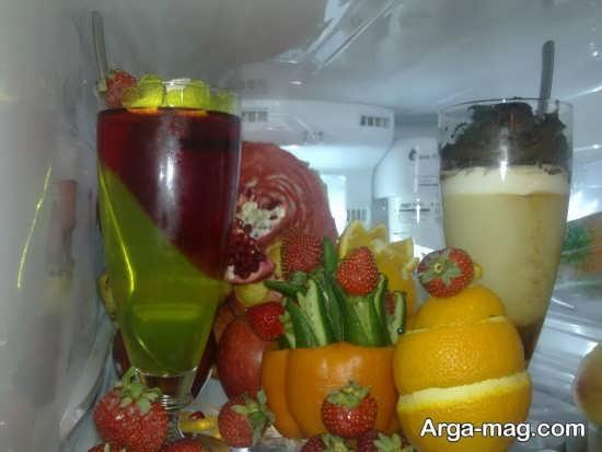 تزیین دسر و میوه برای یخچال