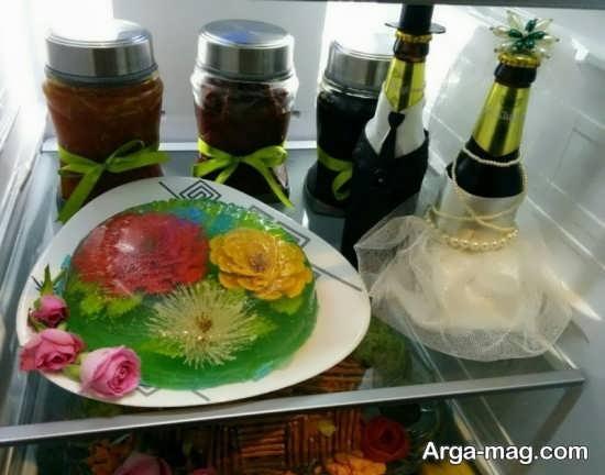 تزیین دسر برای یخچال عروس