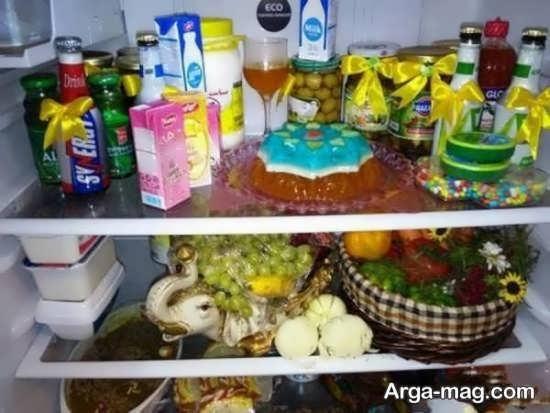 تزیین خوراکی برای یخچال