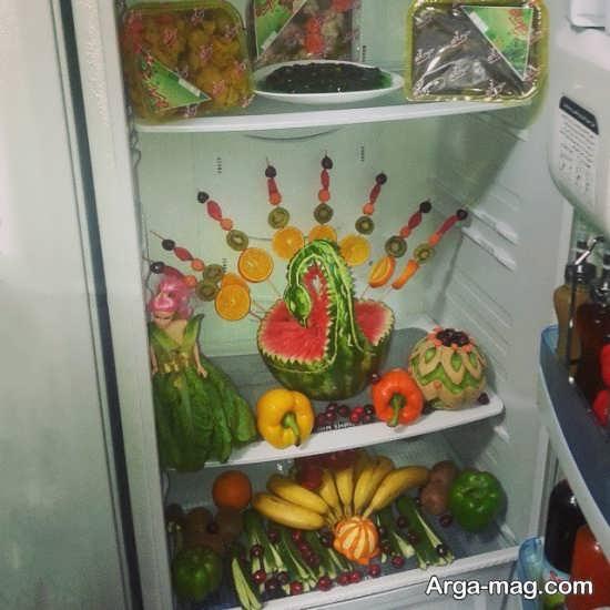 تزیین میوه برای یخچال جهیزیه