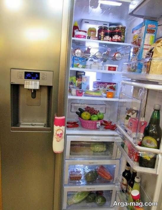 تزیین یخچال جهیزیه عروس با روش های خلاقانه و جالب
