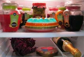تزیین یخچال جهیزیه عروس با ایده های خلاقانه