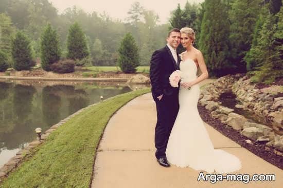عکس عروس و داماد در فضای باز