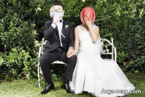 ژست های زیبای عروس و داماد