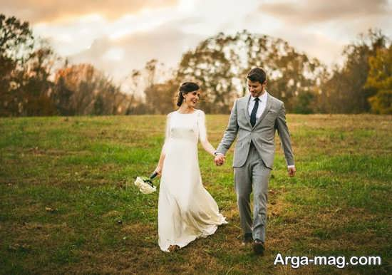عکس عروس و داماد با ژست زیبا
