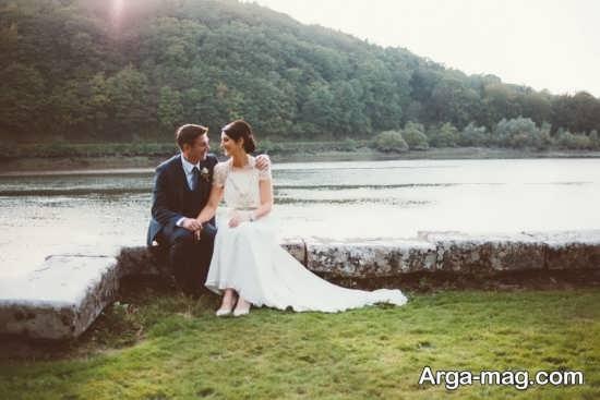 عروس و داماد با ژست های زیبا
