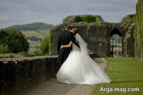 عکس دو نفره عروس و داماد