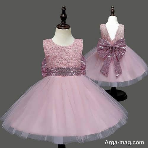 مدل پرنسسی لباس حریر بچگانه