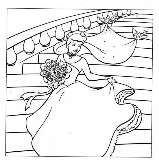 نقاشی کودکانه و جالب سیندرلا