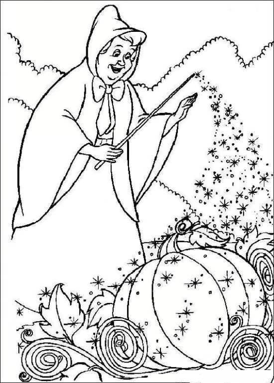 نقاشی فرشته مهربون و سیندرلا