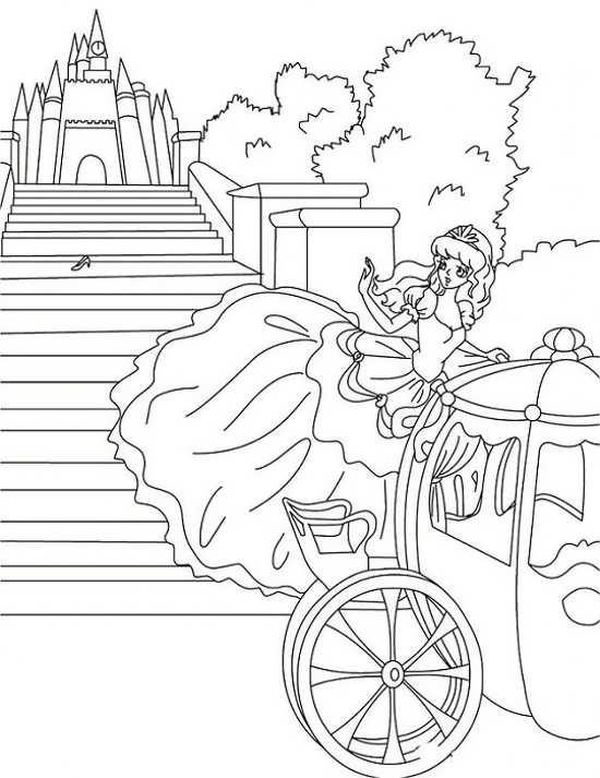 نقاشی کارتونی شیک سیندرلا