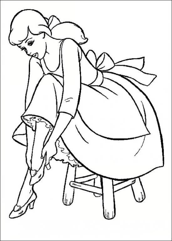 نقاشی کارتونی و جالب سیندرلا