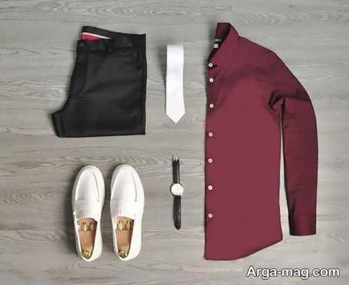 ست لباس زرشکی مردانه منحصر به فرد