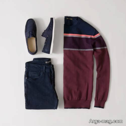 ست لباس زرشکی مردانه اسپورت