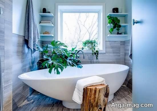 تزیینات مناسب سرویس بهداشتی با گل طبیعی
