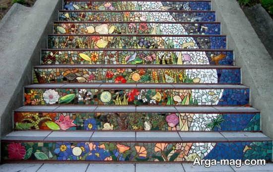 ایده قشنگ برای تزیینات راه پله