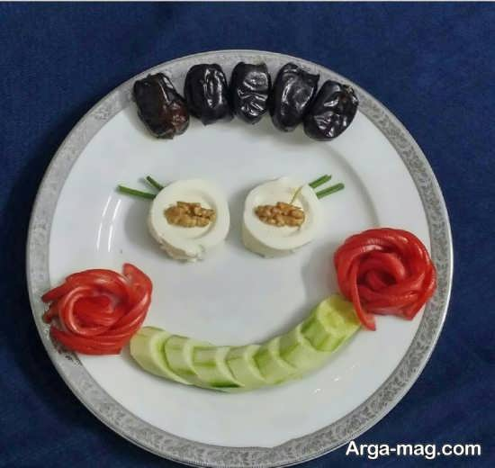 تزیین زیبا گوجه و خیار و پنیر