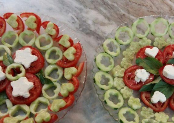 تزیین پنیر خیار گوجه برای صبحانه و عصرانه