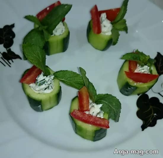 تزیین پنیر خیار گوجه با روش های جالب