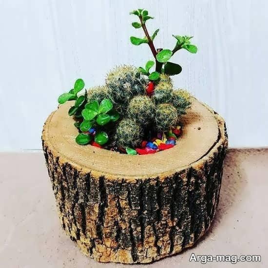 گلدان رومیزی فانتزی چوبی