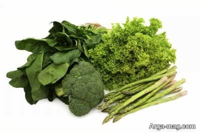انواع سبزیجات تقویتی برای وزن گیری جنین