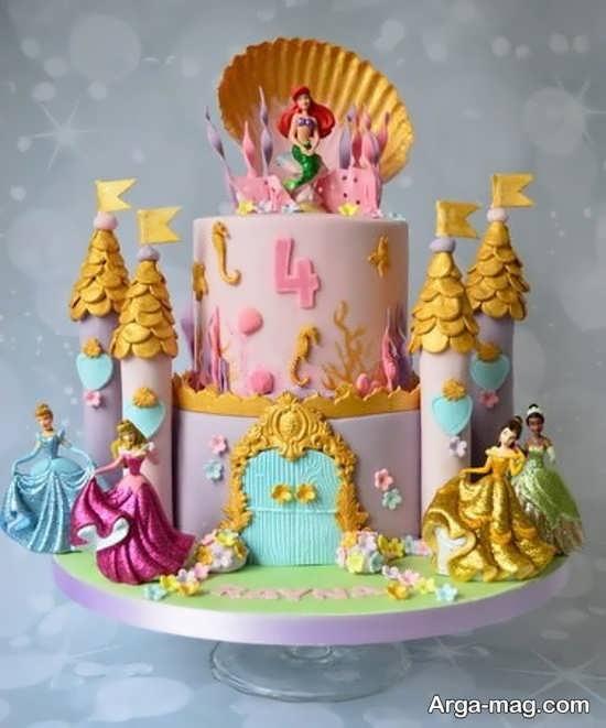 کیک تولد پرنسس های دیزنی با طرح فوق العاده