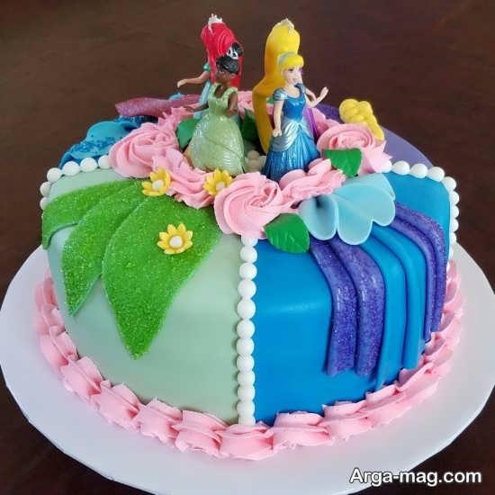 طراحی جدید کیک تولد پرنسس های دیزنی