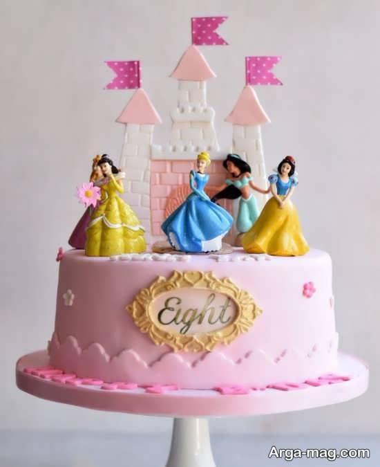 طراحی ایده آل کیک تولد پرنسس های دیزنی