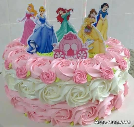 طراحی متفاوت کیک تولد پرنسس های دیزنی