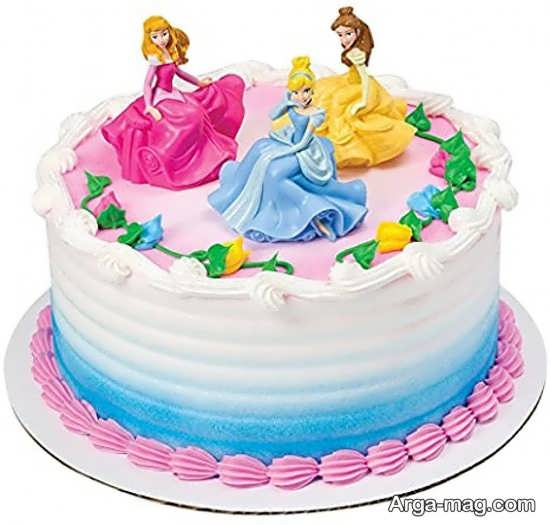 کیک تولد پرنسس های دیزنی با طرح متفاوت