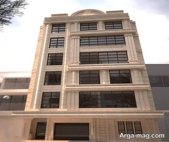 نمای ساختمان 4 طبقه