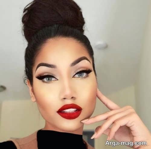 مدل گریم صورت جدید و جذاب زنانه
