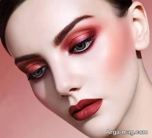 مدل آرایش شیک صورت