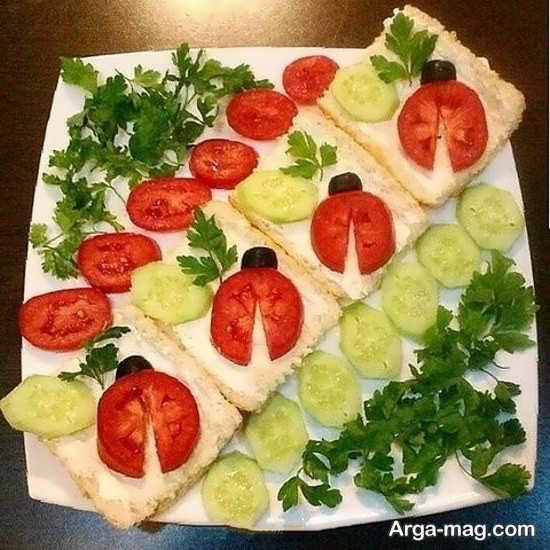 تصاویری از تزیینات پنیر خیار گوجه